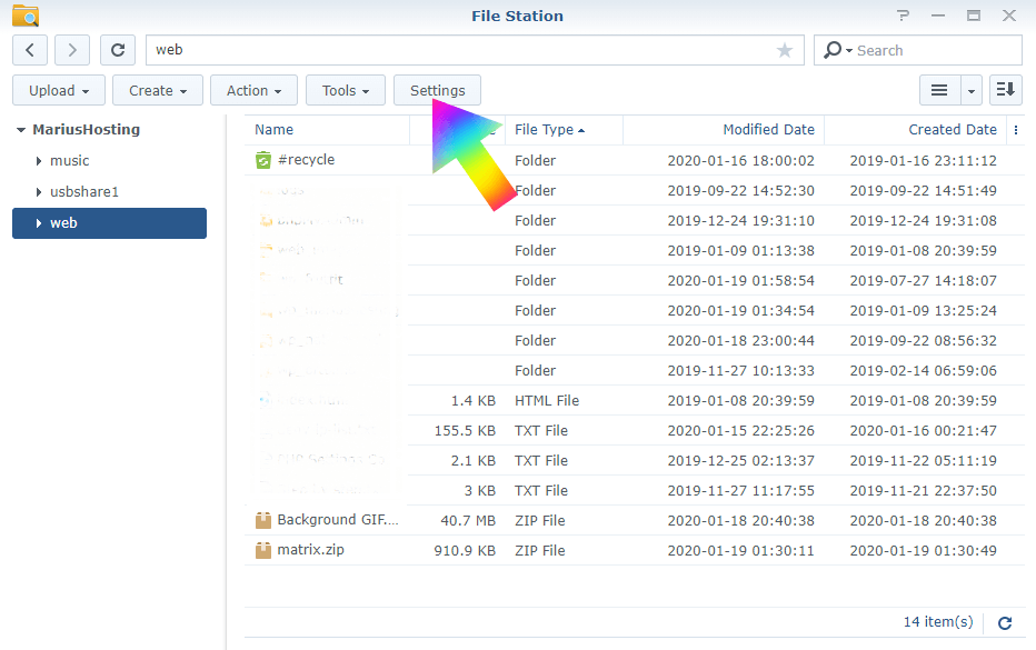 Shared logs Synology 1