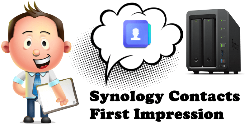 Synology Contacts First Impression