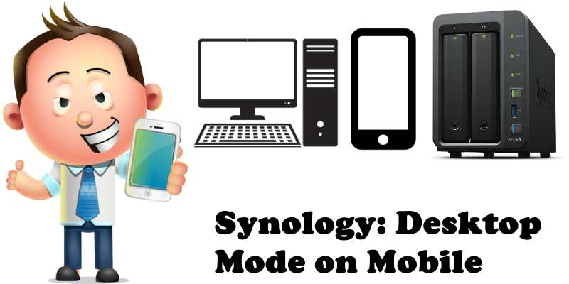 Synology Desktop Mode on Mobile