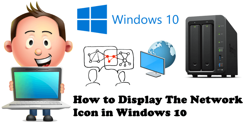 Synology How to Display The Network Icon in Windows 10