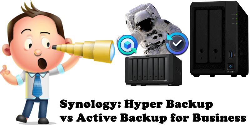 Synology Hyper Backup vs Active Backup for Business