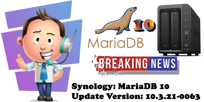 Synology MariaDB 10 Update Version 10.3.21-0063
