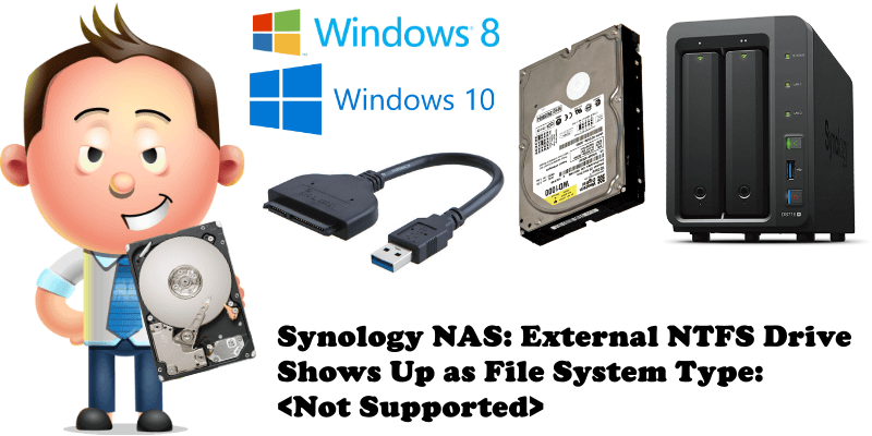 Synology NAS External NTFS Drive Shows Up as File System Type Not Supported