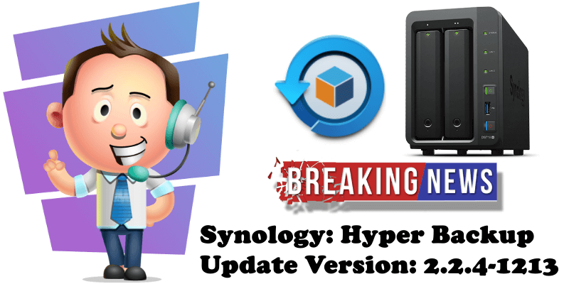 Synology Hyper Backup Update Version 2.2.4-1213