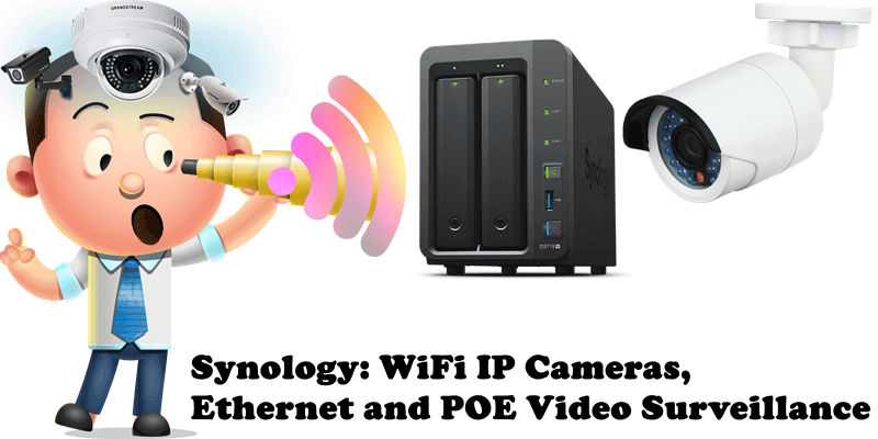 Synology WiFi IP Cameras, Ethernet and POE Video Surveillance