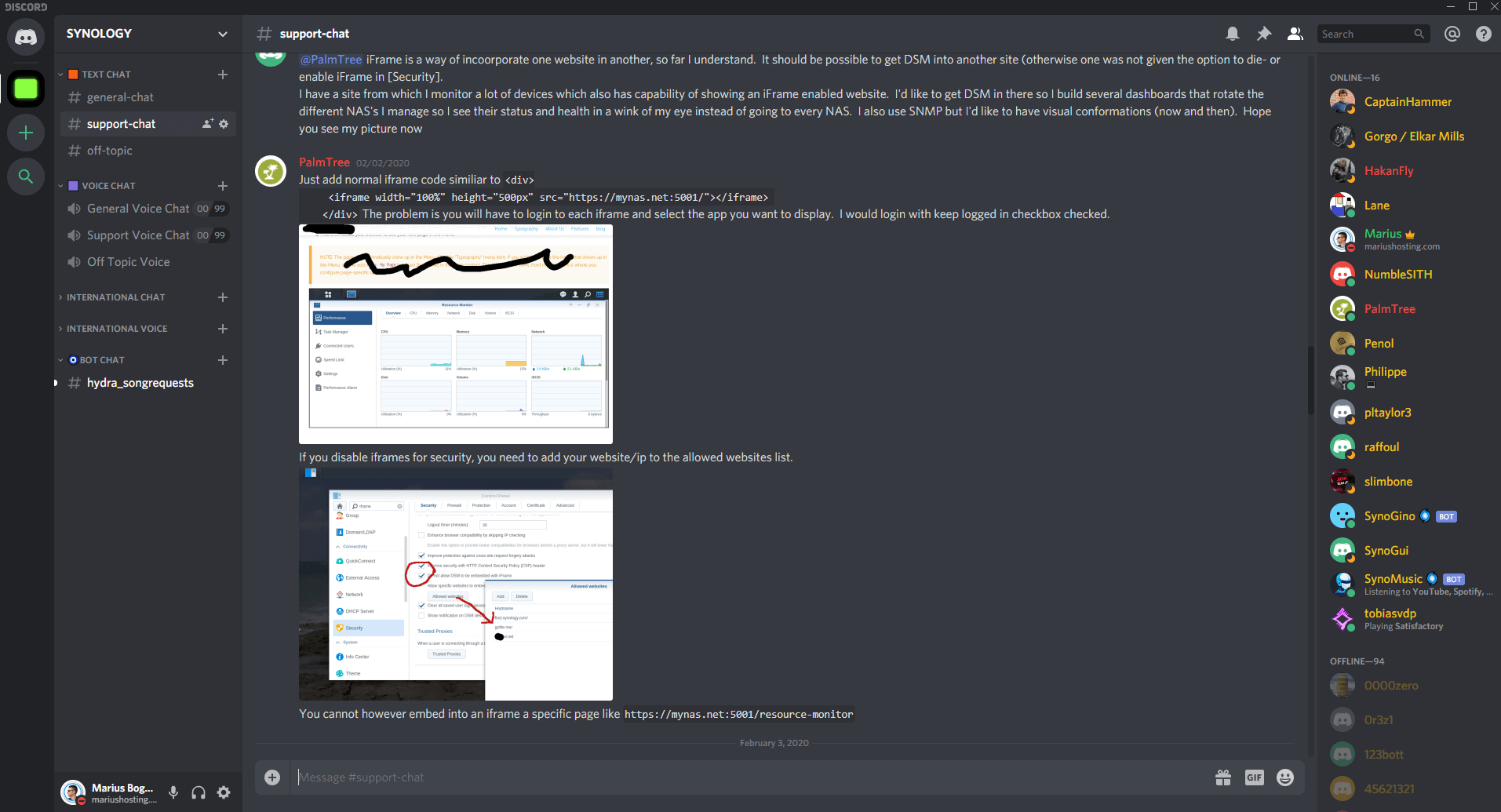 real time discord synology 2