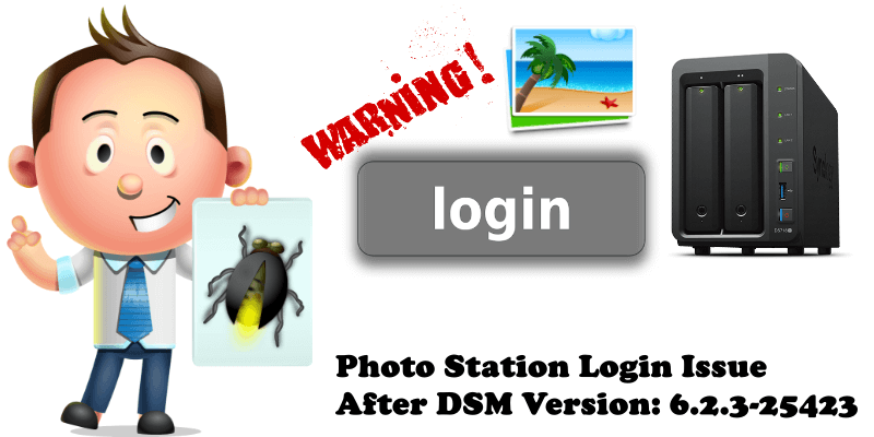Photo Station Login Issue After DSM Version 6.2.3-25423