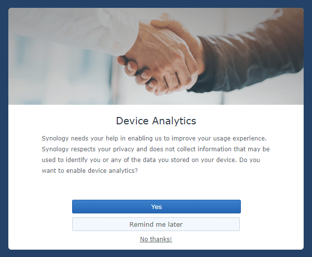 analytics data synology 6.2.3