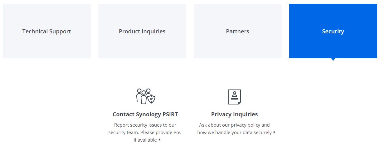 contact synology 4