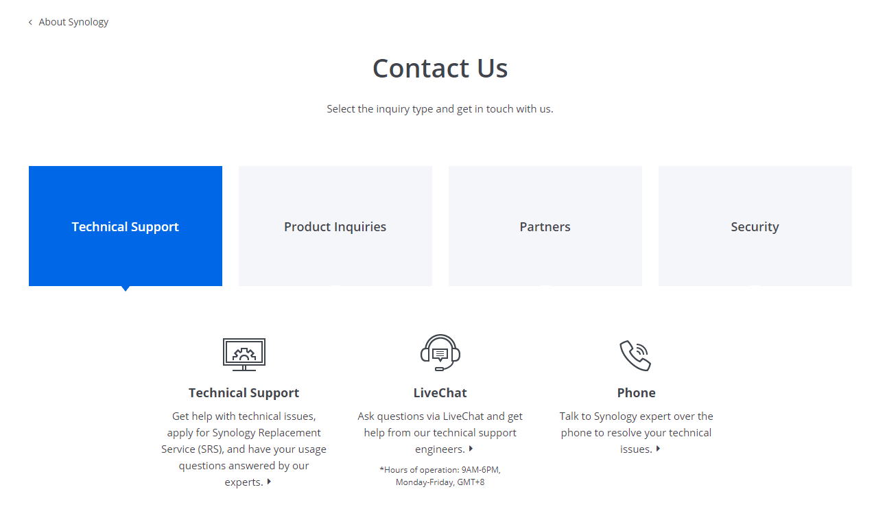 contact synology