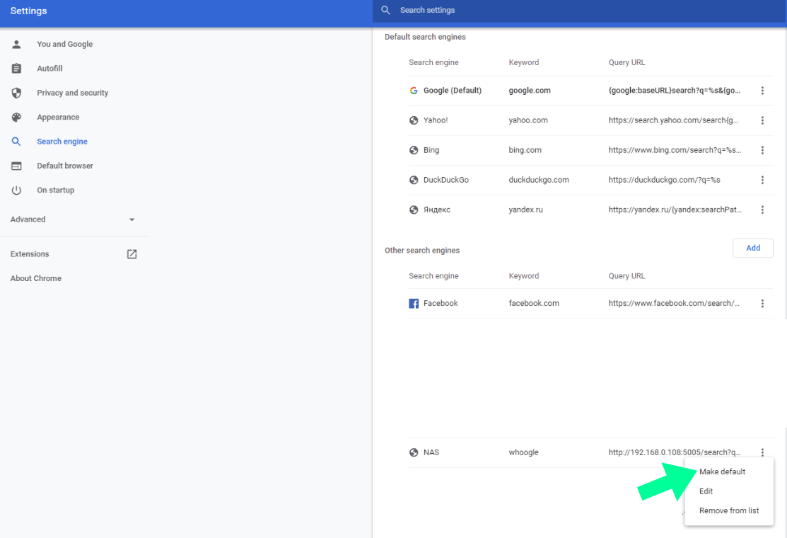 16 Whoogle Chrome Synology Docker