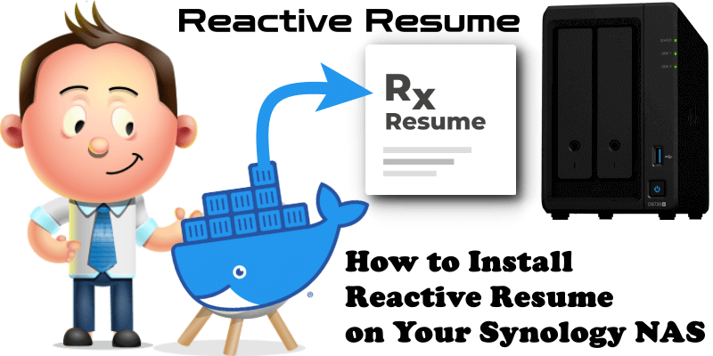 How to Install Reactive Resume on Your Synology NAS