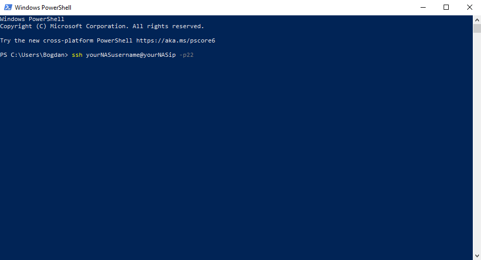 SSH Windows 10 PowerShell