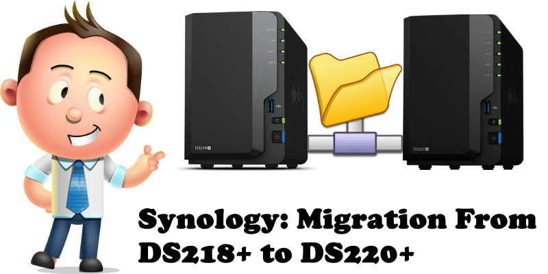 Synology Migration From DS218+ to DS220+