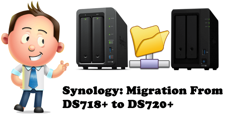 Synology Migration From DS718+ to DS720+