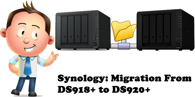 Synology Migration From DS918+ to DS920+