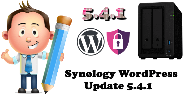 Synology WordPress Update 5.4.1