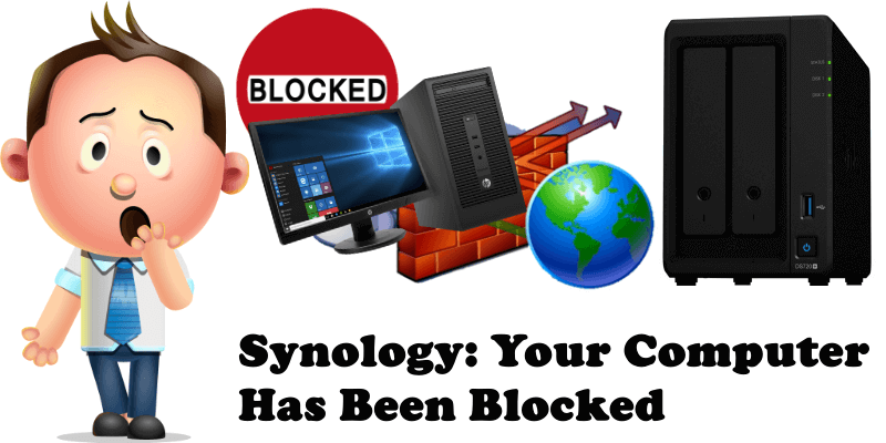 Synology Your Computer Has Been Blocked