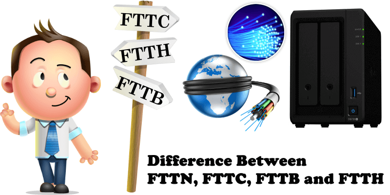 Difference Between FTTN, FTTC, FTTB and FTTH