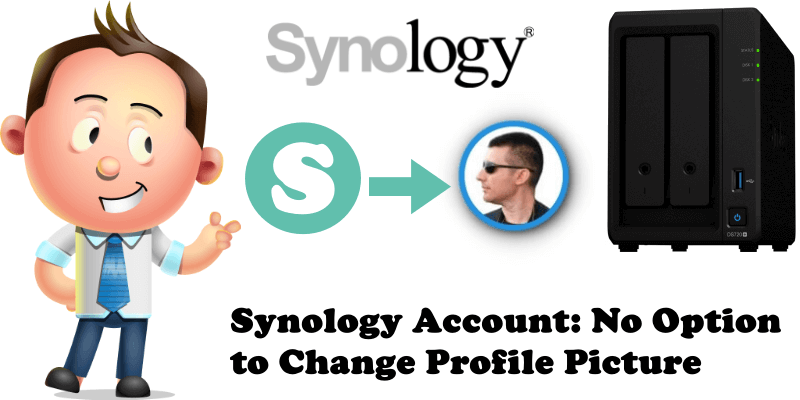 Synology Account No Option to Change Profile Picture