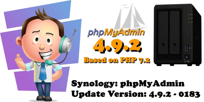 Synology phpMyAdmin 4.9.2 Update Version 4.9.2-0183