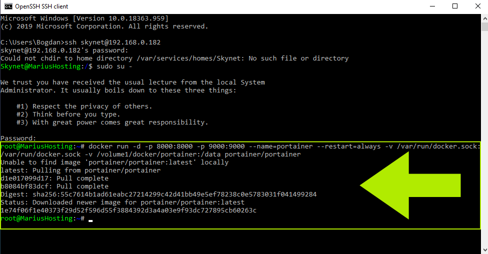 12 Portainer Synology Command Prompt