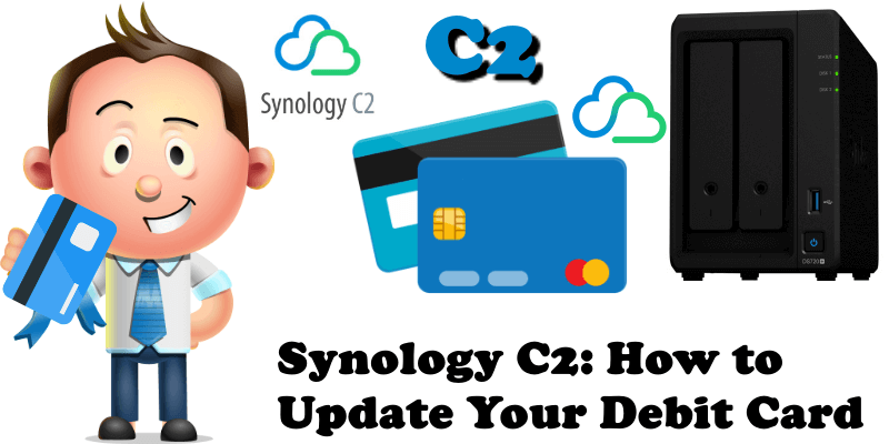 Synology C2 How to Update Your Debit Card