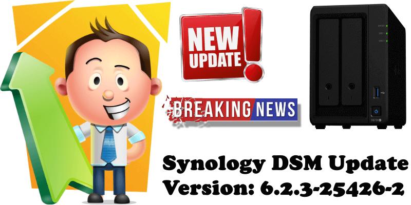 Synology DSM Update Version 6.2.3-25426-2
