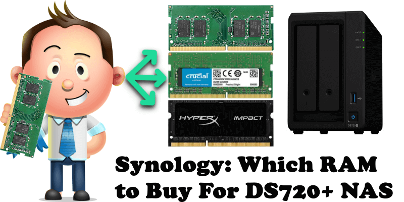 Synology Which RAM to Buy For DS720+ NAS