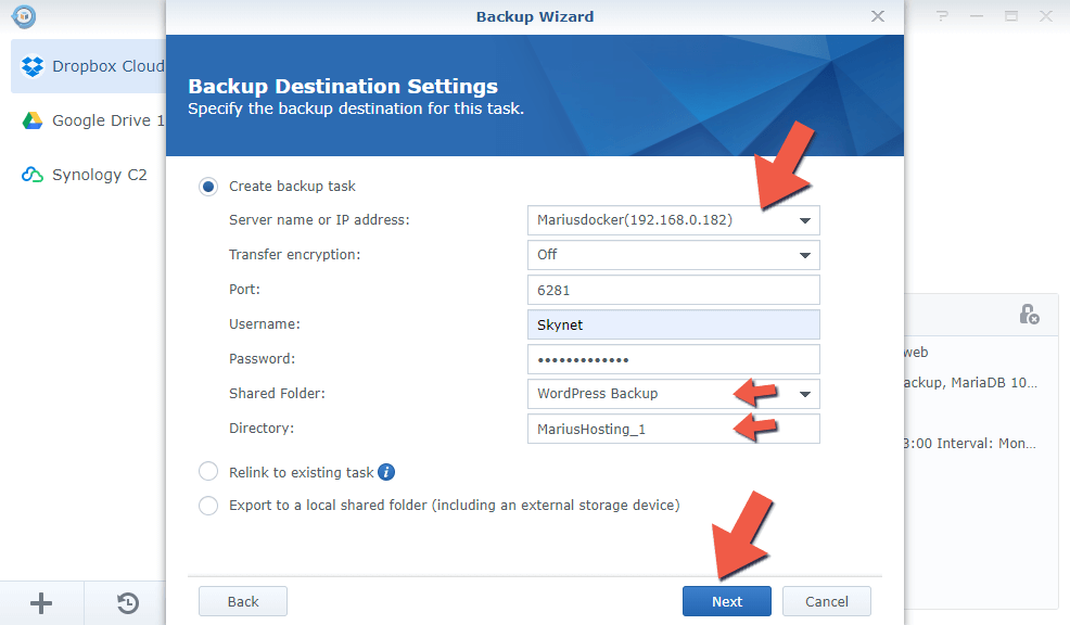 1.2 Synology Backup to Another NAS 1