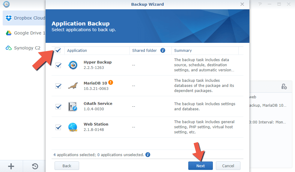 1.4 Synology Backup to Another NAS 1