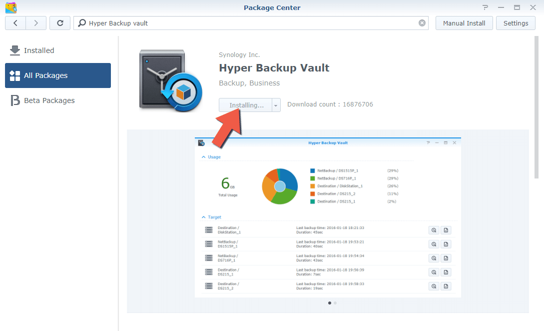 2 Synology Backup to Another NAS 2