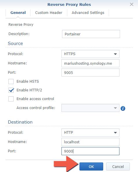 2 Synology NAS Portainer setup HTTPS SSL