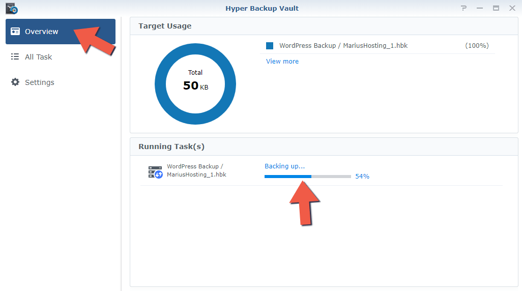 2.1 Synology Backup to Another NAS 2