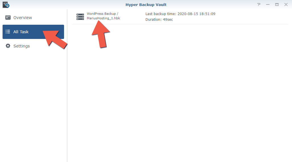 2.3 Synology Backup to Another NAS 2