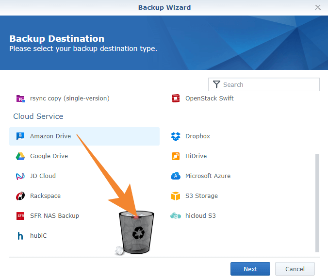 Amazon Drive cloud no longer work with Cloud Sync Synology Hyper Backup