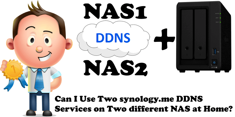 Can I Use Two synology.me DDNS Services on Two different NAS at Home