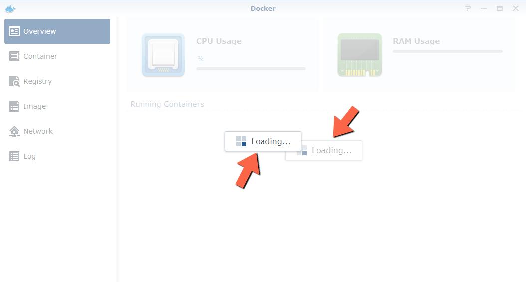 Docker two loading screen