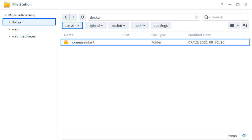 Home Assistant Synology NAS Set up 1