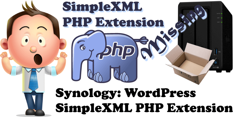 Synology WordPress SimpleXML PHP Extension