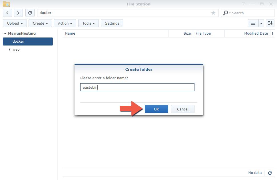 2 Install PrivateBin Synology NAS set up filestation