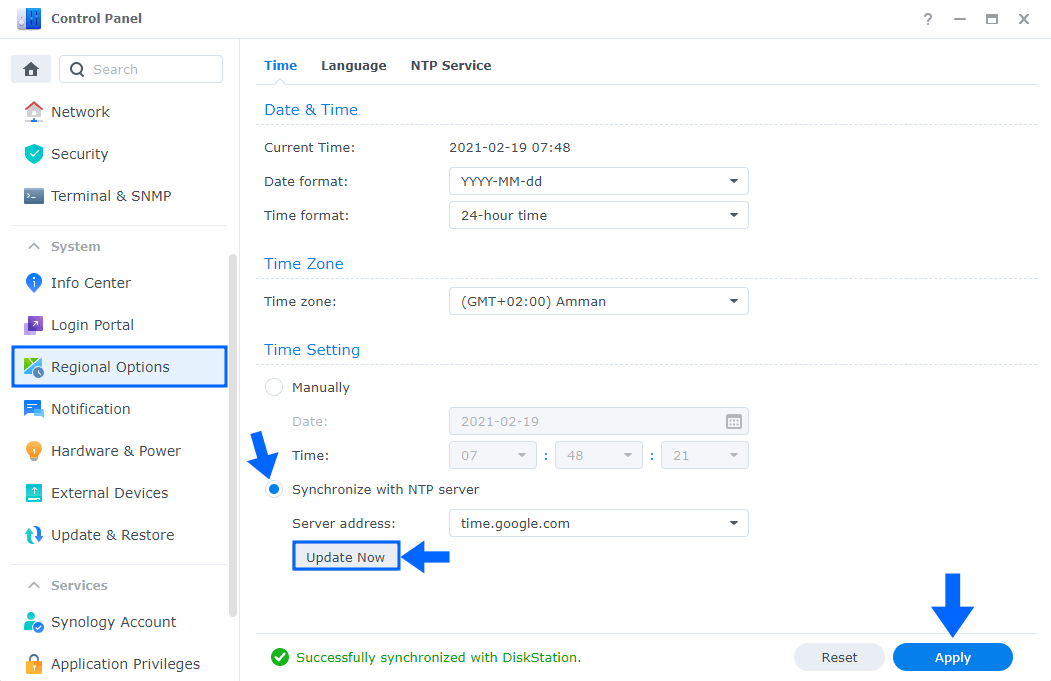 4 Synology Connection Failed. Please Check Your Network and Time Settings