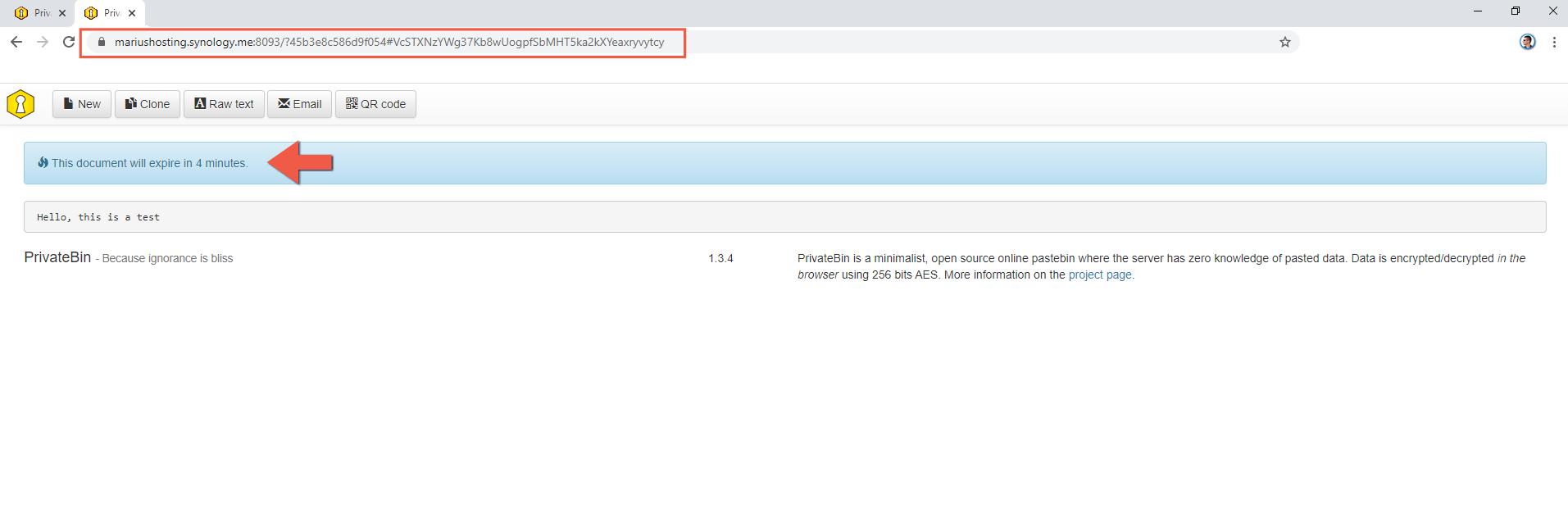 6 Install PrivateBin Synology NAS set up SSL reverse proxy