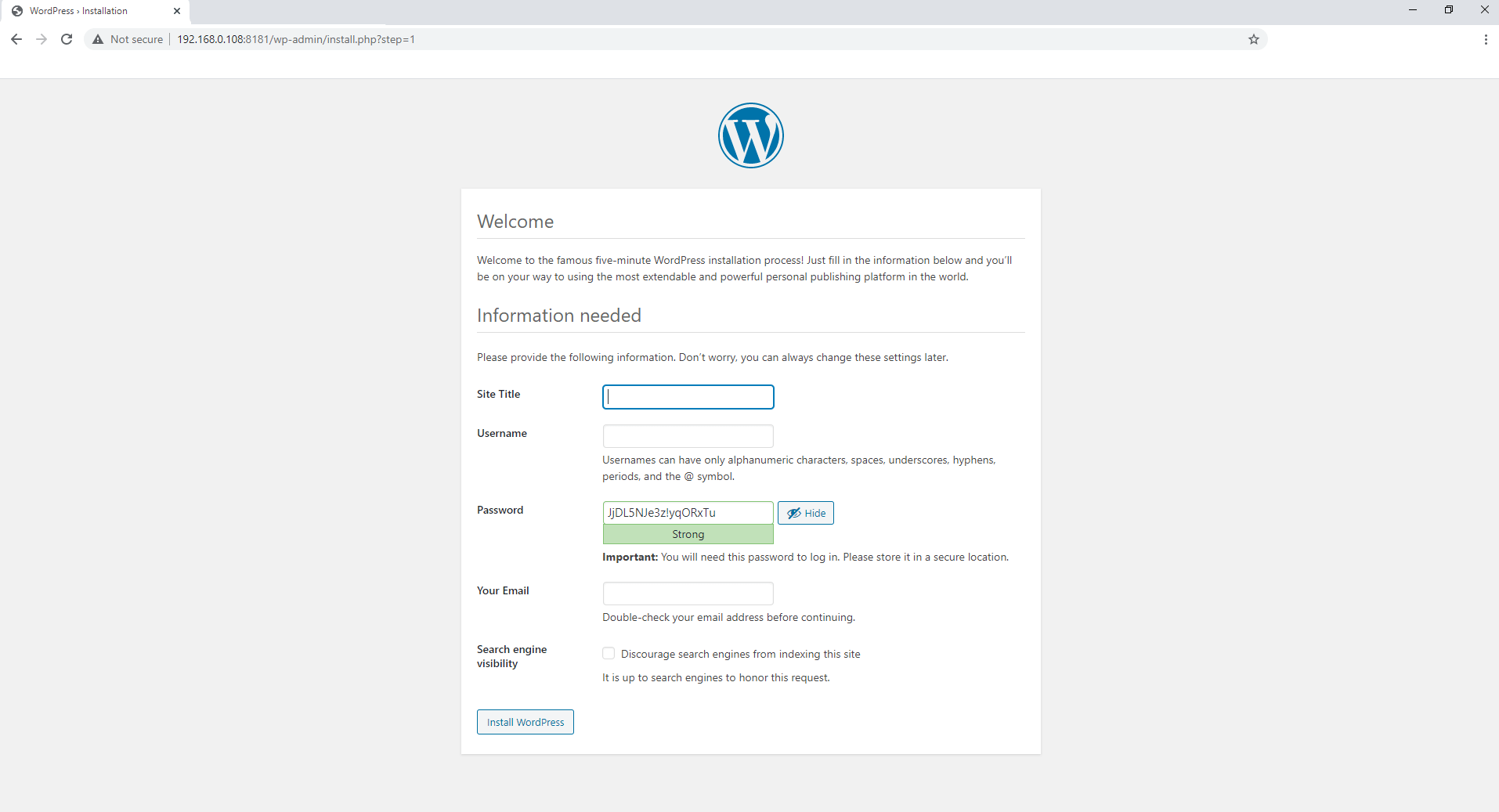 6 Synology NAS WordPress Docker container set up