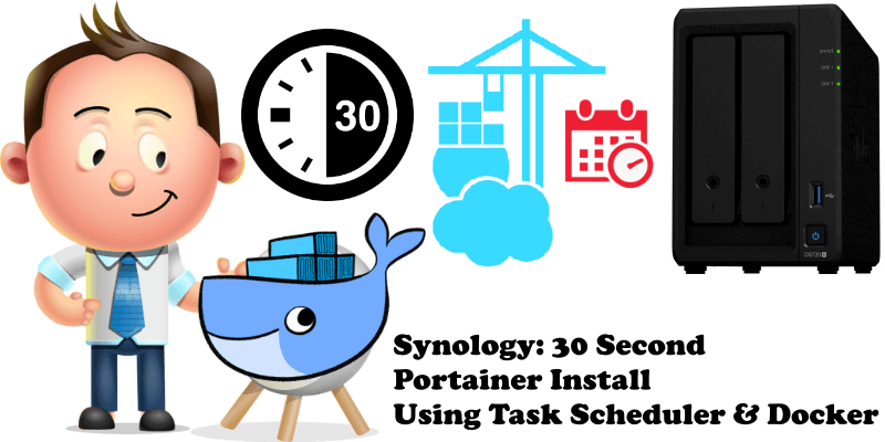 Synology 30 Second Portainer Install Using Task Scheduler & Docker