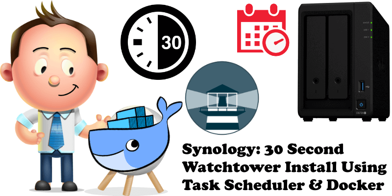 Synology 30 Second Watchtower Install Using Task Scheduler & Docker