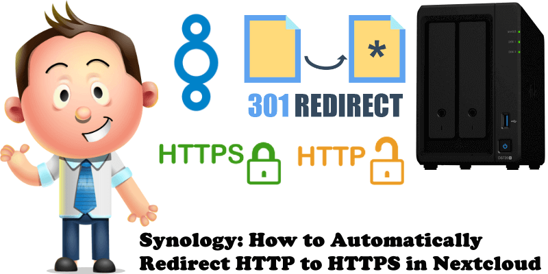 Synology How to Automatically Redirect HTTP to HTTPS in Nextcloud