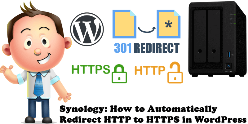 Synology How to Automatically Redirect HTTP to HTTPS in WordPress
