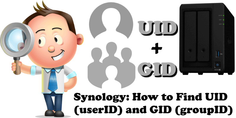 Synology How to Find UID (userID) and GID (groupID)