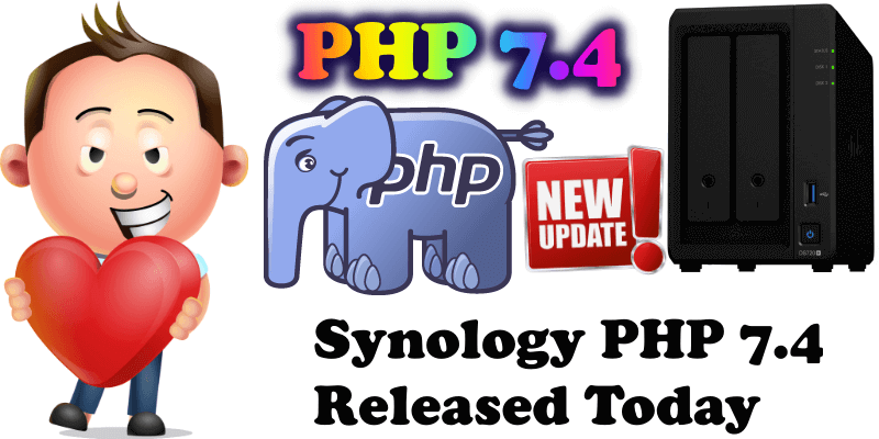 Synology PHP 7.4 Released Today